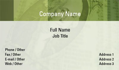 Finance Business Card Template